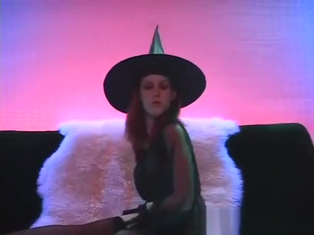 Sexy Red Haired Witch Strips, Masturbates,Sucks Cock and takes a Facial. Boys licking girls how are naked