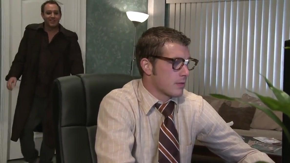 Lonely secretary Chloe Conrad fucks and sucks hard long cock