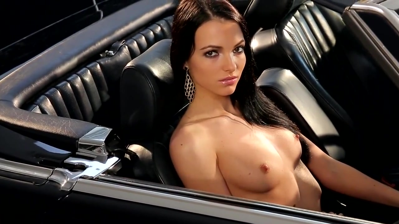 Sensual Brunette Babe Sapphira Strips Inside A Mercedes Busty bree photos and images free