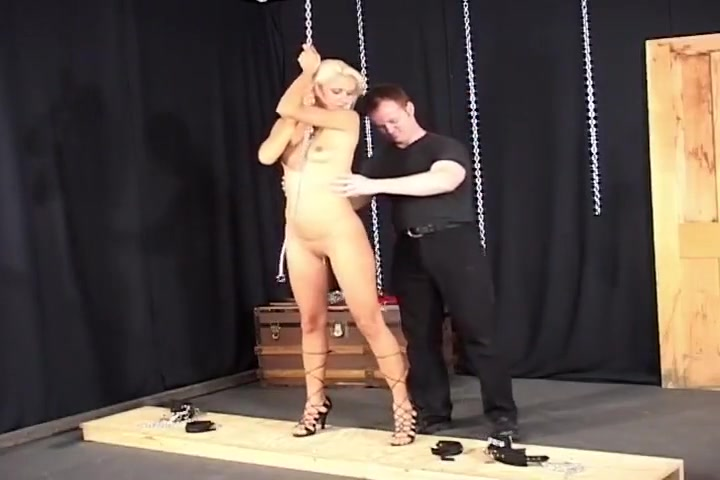 Blonde Tied Up Girl Gets Nipple Clamps And A Vibrator norman manly sex tape