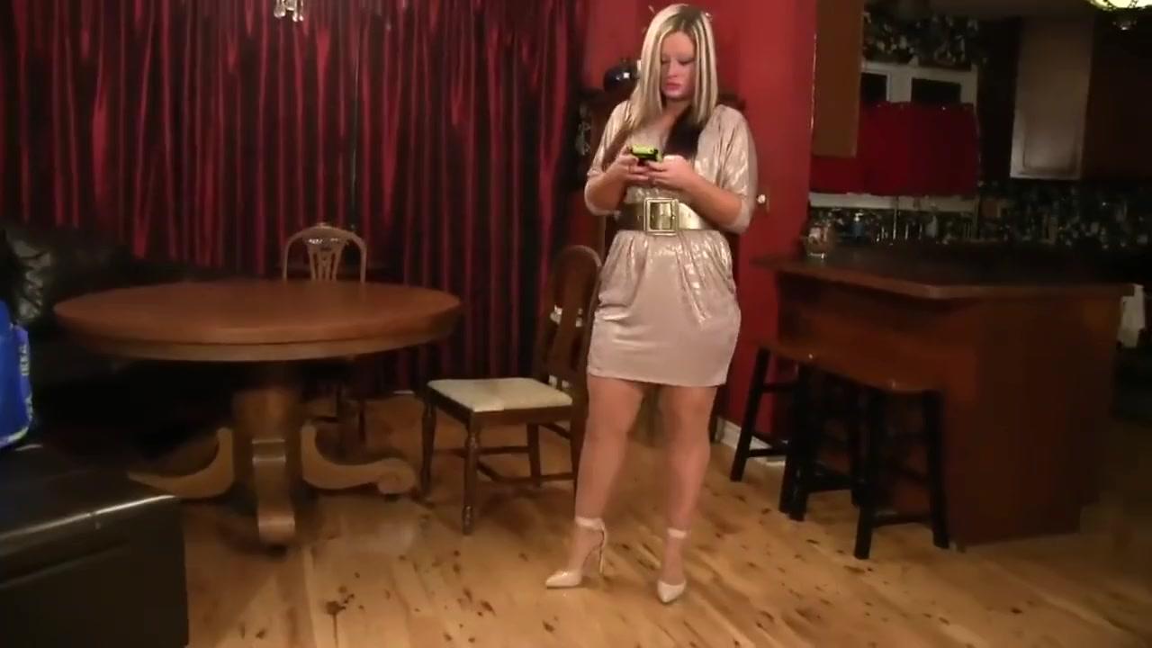 Woman Ties Blonde