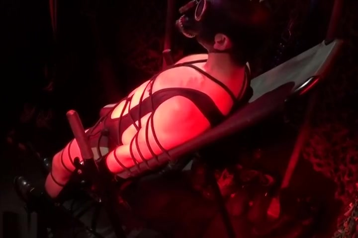 Rope bondage, Inversion and Electro (S11) Cock-riding on the soft bed