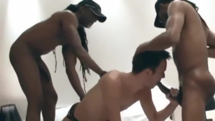 Bareslut takes on two black cocks Funny people funny people