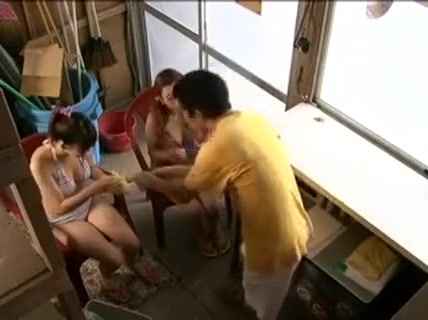 Two Busty Japanese Girls Working Their Skillful Hands On Ha Cuckold group sex