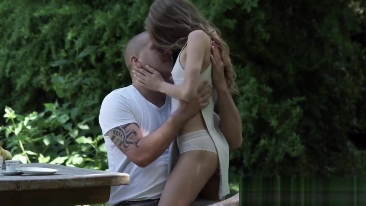 Petite euro model banged outdoors ginger banks sex machine fuck 1