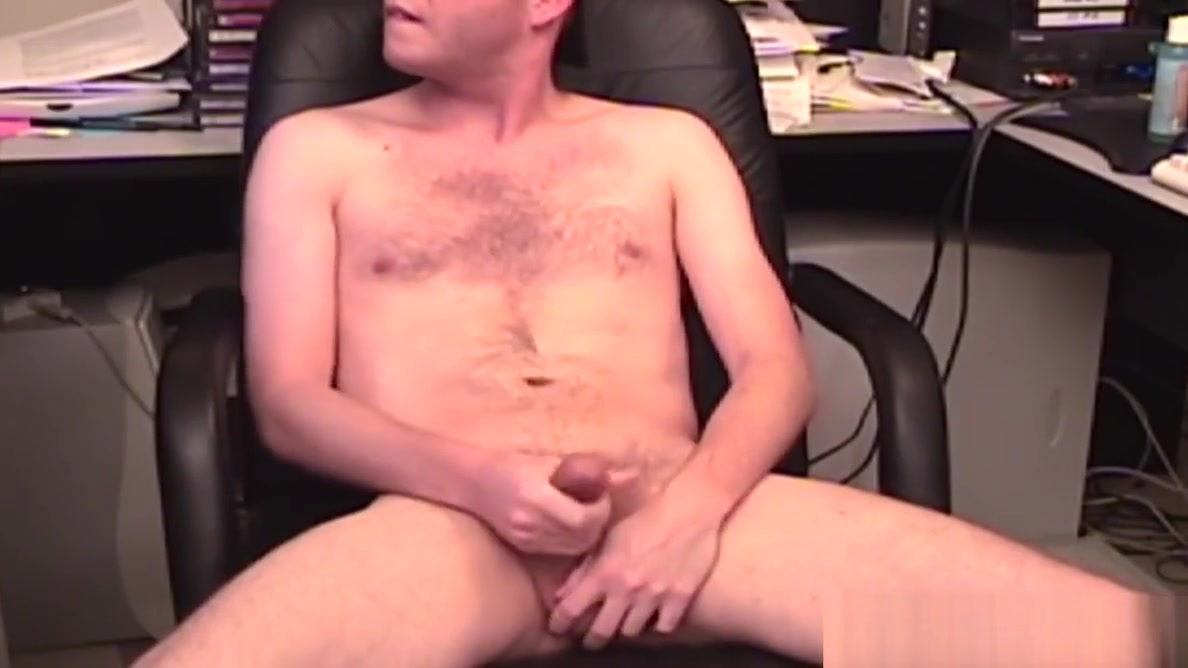 Freaky homosexual masturbates at work while laughing Drive your cock into my ass