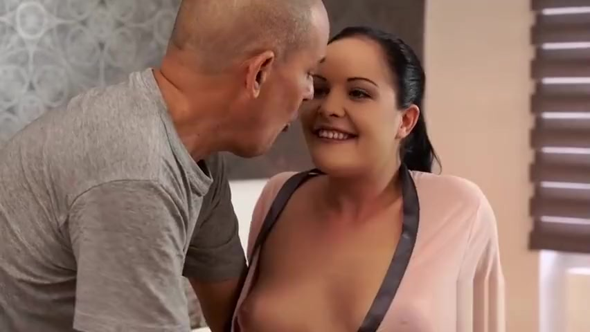 Bald Daddy Uses Opportunity To Fuck Sons Amazing Girlfriend Bound brunette gets ass spanked