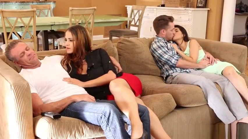 Hot BF 3some fuck with mom Raquel and GF Penelope