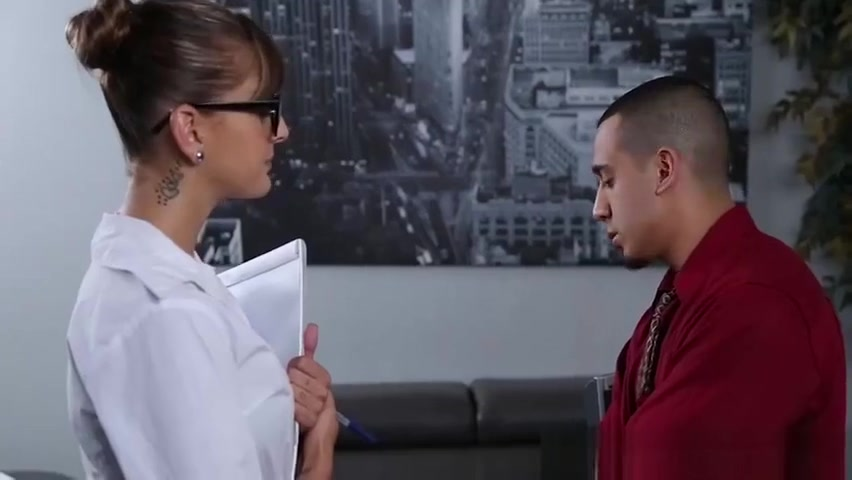 Cute secretary with perfect body gets punished in office Sexy female cop porn