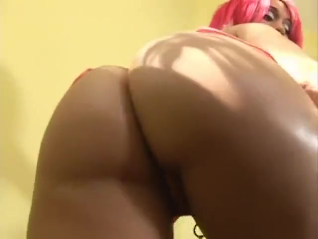 2 dick tuesday for pink haired ebony