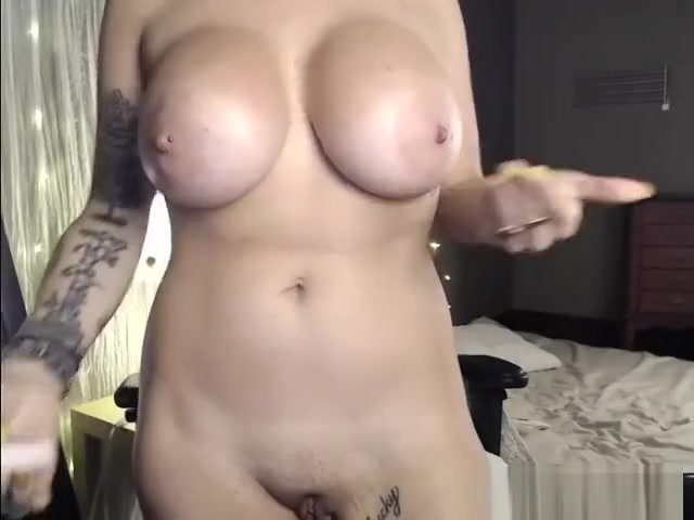 Excited Tattooed Chick Masturbation Teasing Solo