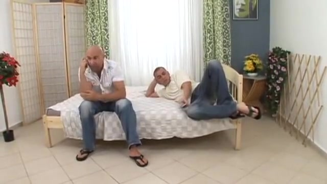 Hairy amateur is gangbanged by a trio of cocks