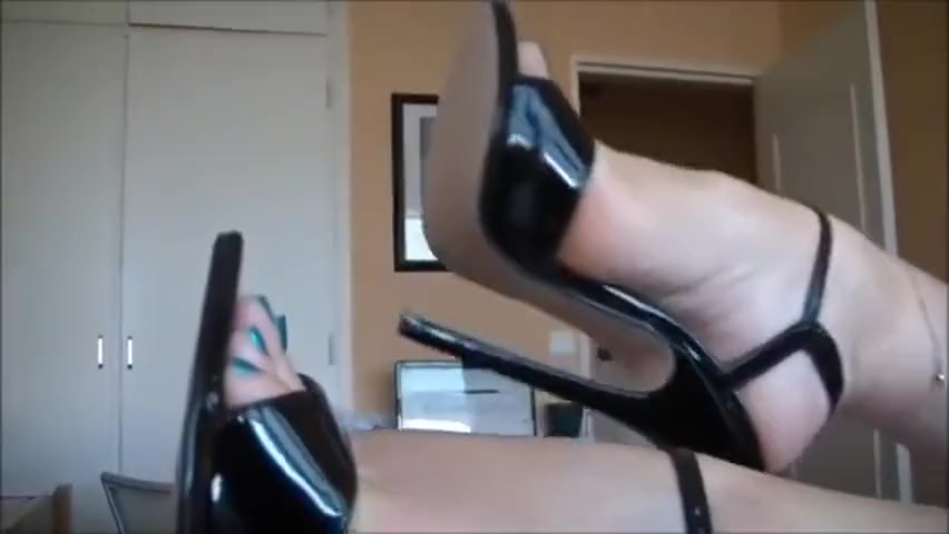 Bare Feet In Open High Heels 8