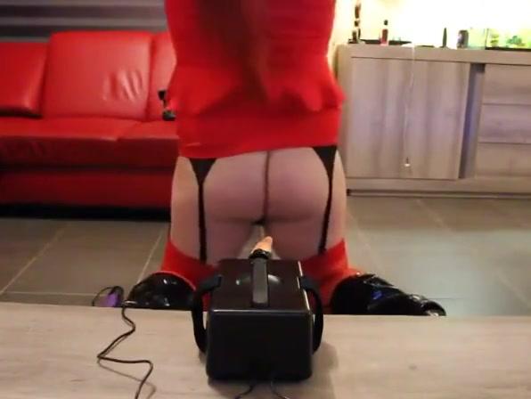Redhead Crossdresser Fucked by New Sex Machine Japanese swimming pool groping