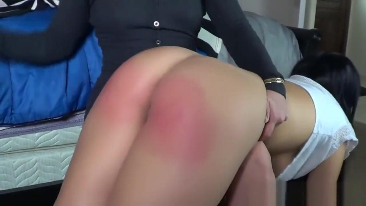 Asian babe spanked hard otk