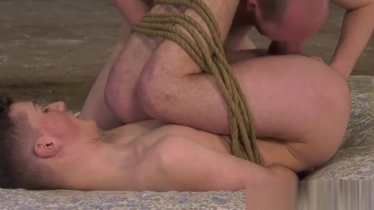 Tied up twink drilled with huge dildo and massive cock Linda Gapes and Mariah Milano have ass parade