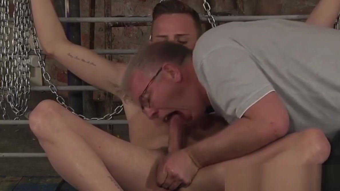 Twink BDSM Cameron James anal play fingering and dildo Gif rubbing her clit