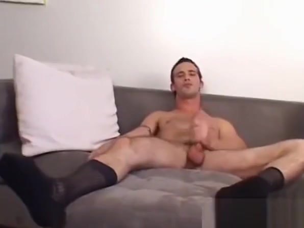 A tall hunk is jerking his cut cock while playing with socks Girl nude in Amsterdam