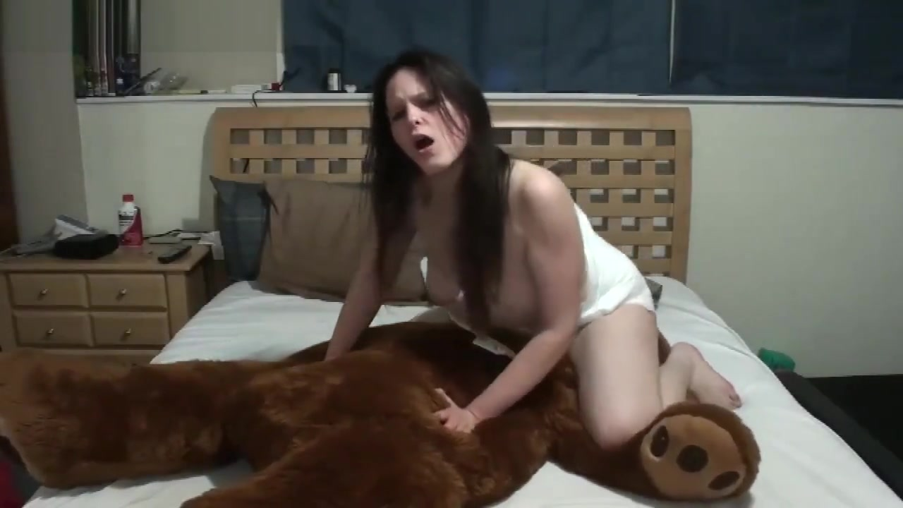 Mr. Bear helps with diaper orgasms Hot blonde amateur homemade video sex on bed