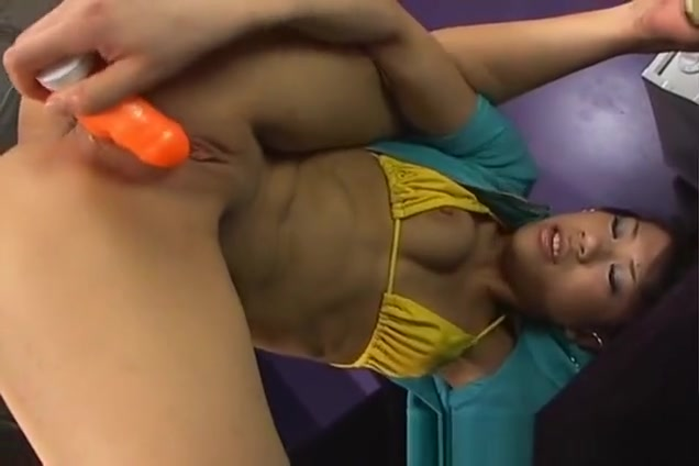 Double Dildo Sex Naughty Asian babe Likes Two At Once