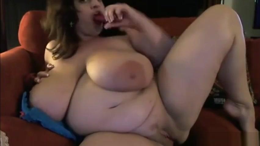 Huge natural 38K boobs milf Maria pounds her fat pretty pussy Milf mature screws