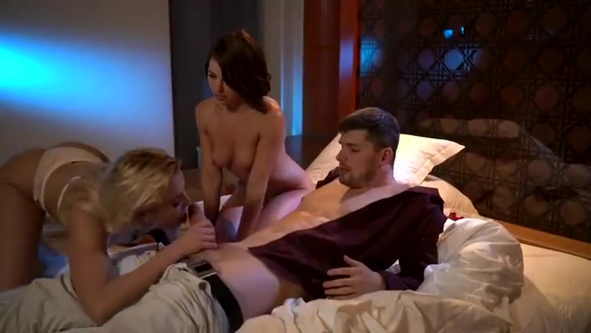 One night in Paris - Cherry Kiss and Adriana Chechik hot blondes with boobs