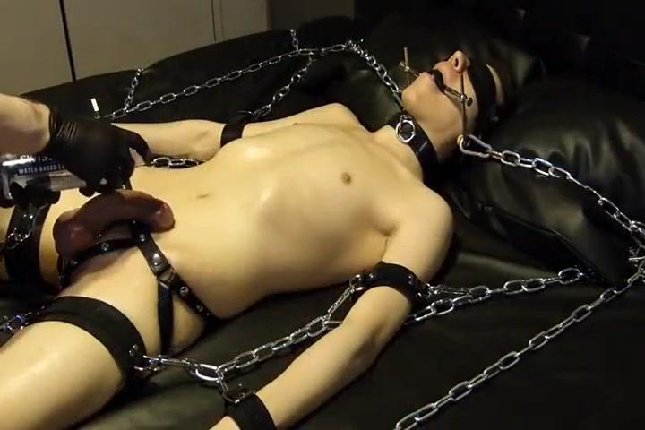 BDSM slave boy too much of masturbation