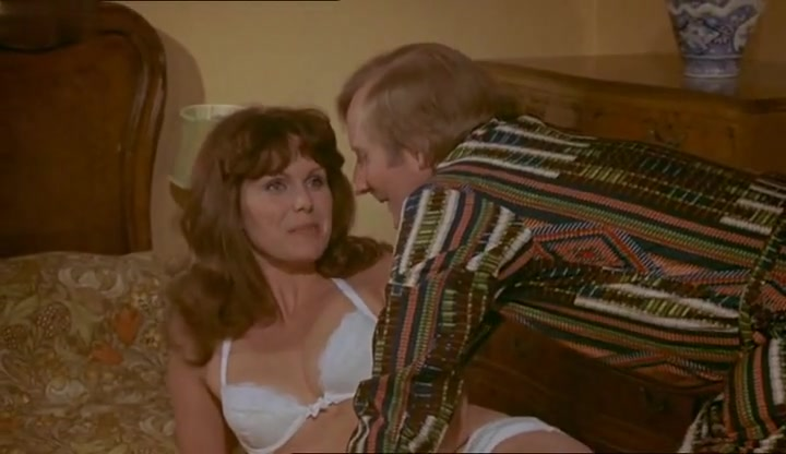 Joanna Lumley,Anita Graham in Dont Just Lie There, Say Something! (1973) Man Bangs Busty Hottie