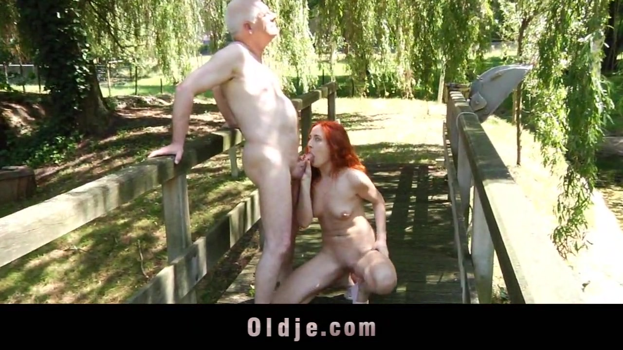 Young girl squeezing old bone until the cum is filling her horny mouth Hardcore love tunnel drilling