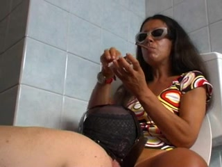 femdom bathroom slave delicate retro group fucking