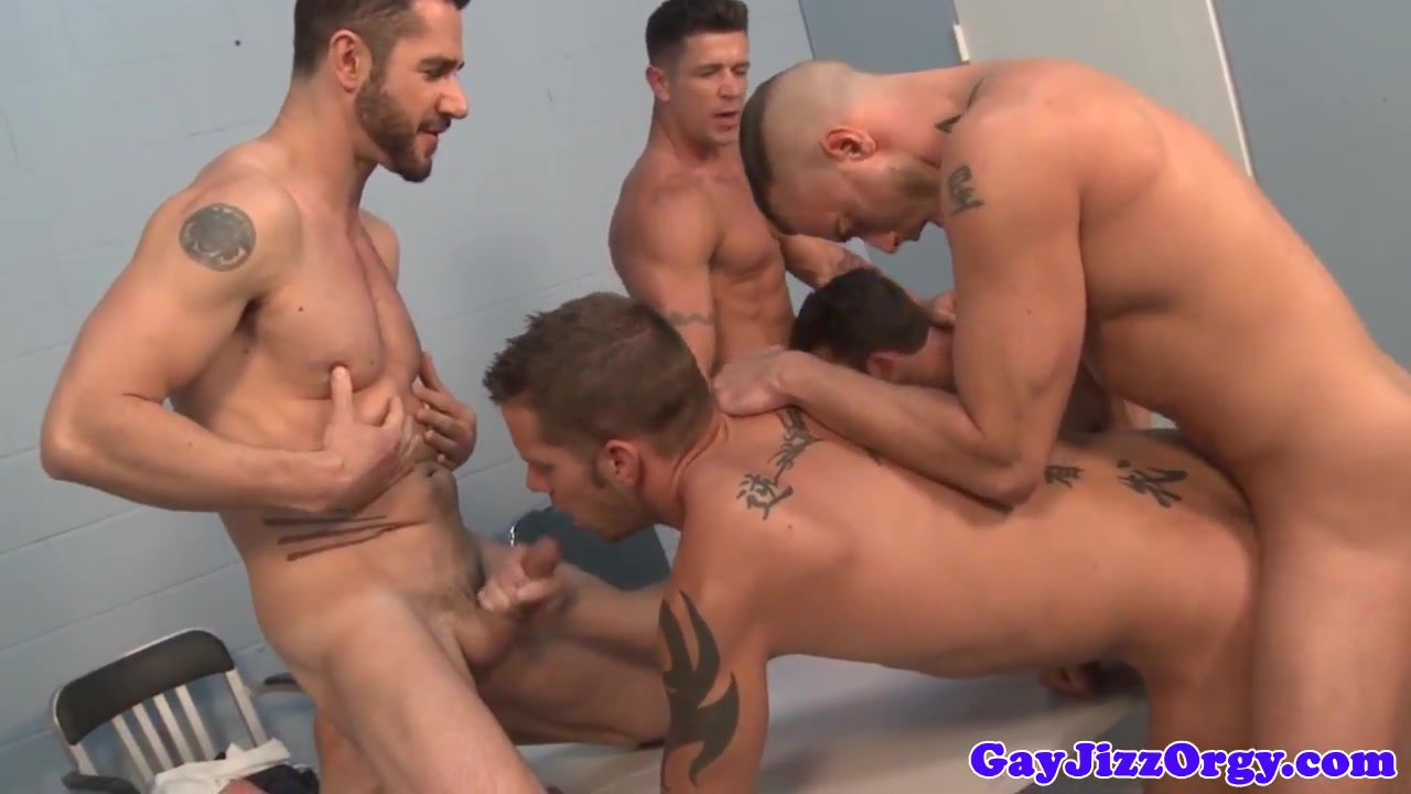 Bukkake stud anally interrogated by muscle jocks Slut Sex in Victorica