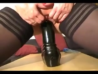 Blonde german fucks herself with a huge black toy black and white erotic nudes