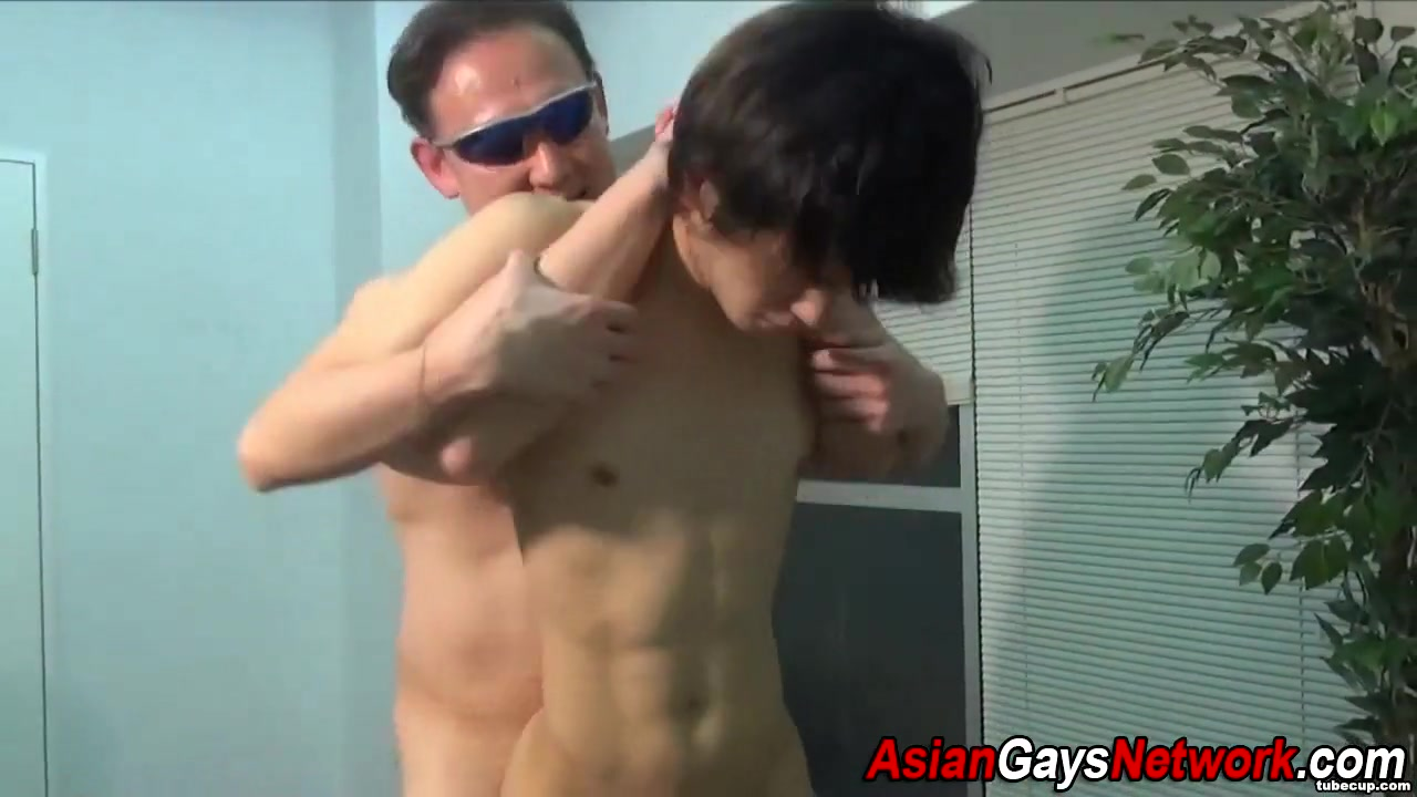 Japanese twink ass fucked girl playing game naked